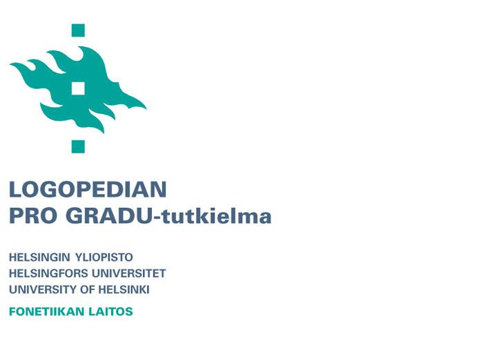 Logopedian Pro gradu